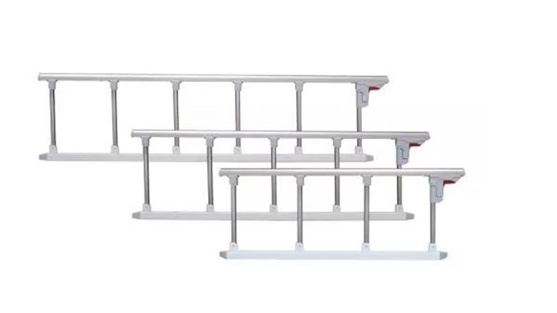 Hospital Medical Bed Folding Style Aluminium Side Rail